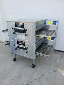 2013 Middleby Marshall Wow Ps636g Double Stack Gas Conveyor Ovens 24 Belt Width