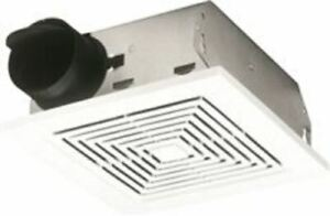 Broan Ceiling Vent Fan Bath Deluxe Bath Exhaust Suspended Fan 70 Cfm Wall Mount