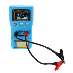 Digital Capacitor Esr Meter Capacitance Tester W Smd Test Clips Auto Range L2w6