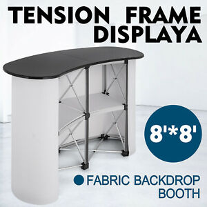 Pop Up Trade Show Display Counter Table Podium W Carry Bag Promotion Portable