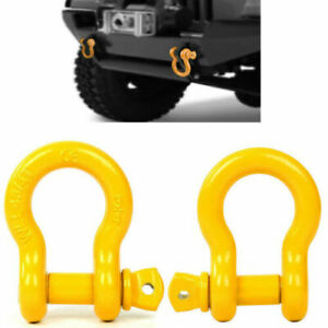 2x3 4 Shackle Galvanized Jeep Off Road Towing Chain D Ring Bow Buckle 4 5t