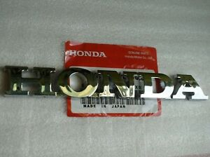 Honda Rear Emblem Trunk Chrome Badge Nameplate Logo Word Letter Civic Accord Fit