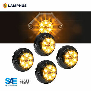 4pc Lamphus Snakeeye Iii Led Hideaway Strobe Light Sae Class1 Ip67 Amber