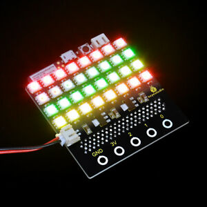Keyestudio Sk6812 Rgb Led Dot Matrix Display Shield For Bbc Micro bit Microbit