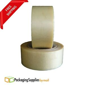 324 Rolls Clear Pvc Packing Tape For Printed Surfaces 2 1 Mil 2 X 110 Yards