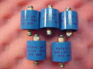Matroc 50 Pf 5 15 Kv Doorknob Capacitor Lot Of 5