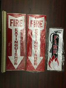Fire Extinguisher Signs vinyl Stickers Bulk 50 Pcs 4 X 12 25 Pcs 3 X 9