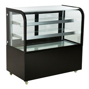Nsf 48 Square Glass Stainless Steel Refrigerated Bakery Display Case Arc 370