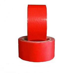 288 Rolls Red Pvc Packing Tape Premium Adhesive Tapes 2 3 Mil 2 X 55 Yards