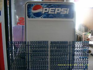New Pepsi cola Menu Board Sign Countertop Or Wall Mount W letter Numbers Sets