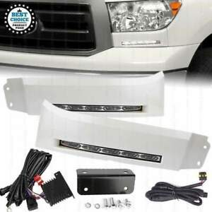 For 2007 2013 Toyota Tundra Sequoia Led Bumper Filler Fog Lights Lamps With