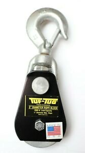 Tuf tug Ttsnb 2000sh 3 Swivel Hook 1 2 Rope 2000 Lb Snatch Block