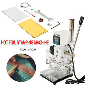 8 10cm Manual Digital Hot Foil Stamping Machine Pvc Card Leather Bronzing F Usa