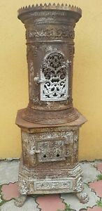 Antique Large Wood Gas Fired Cast Iron Stove 50 75 Years Old