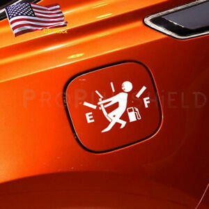 1pc Silver Funny Car Vinyl Sticker High Gas Consumption Decal Fuel Gage Empty