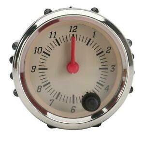 Omega Kustom Instruments Beige Clock W red Pointer