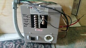 Generator Transfer Switch Made By Cutler Hammer 6 Circuit Includes Breakers