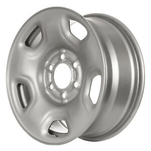 03518 Compatible New Silver Steel Wheel Rim 17in Fits Ford F150 Truck 2004 2007