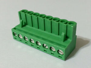 Terminal Block Connector 8pos Pluggable 5mm Phoenix Contact 1754562 New 10pcs