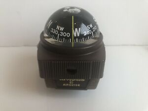 Vtg Airguide Deluxe Auto Compass Brougham Model 59 Box Papers Glass Liquid