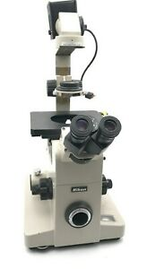Nikon Diaphot Phase Contrast Inverted Microscope With 3 Objectives