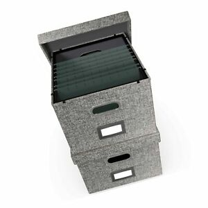 File Boxes For Hanging Files Decorative Filing Organizer With Lid Filing