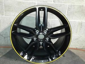 14 18 Corvette C7 Split Spoke Oem Black Rear Wheel 20x10 20986480 M8831