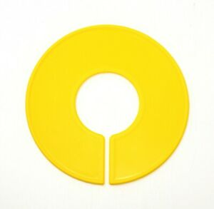 Yellow Round Plastic Blank Rack Size Dividers Multi pack