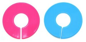 Pink And Blue Round Plastic Blank Rack Size Dividers Multi pack