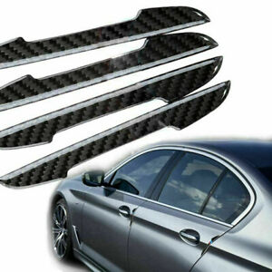 4x Carbon Fiber Car Side Door Edge Guard Protection Stickers For Bmw