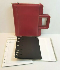 Franklin Covey Monarch Full Grain Leather Zip Planner Binder 7 Rings 1 75