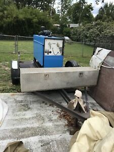 Used Miller Big 4 Diesel Welder On Trailer Mig Spoolgun
