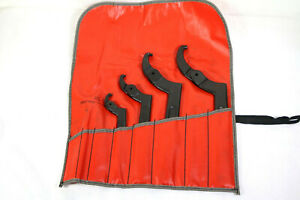 Blue Point snap On Adjustable Pin Spanner Wrench Set With Pouch 680