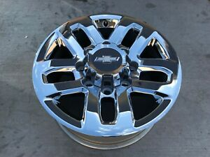 4 Chevy Silverado 2500 3500 18 Oem Wheels Chrome Finish 2015 2018 18x8 8 Lug