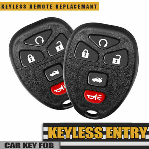 2x New Replacement Keyless Entry Remote Control Key Fob For Chevy Pontiac Saturn