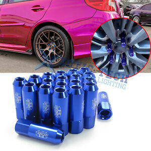 M12 X 1 5 60mm Aluminum Spike Tuner Extended Lug Nuts For Car Wheels Rims Black