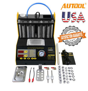 Autool Ct200 Ultrasonic Fuel Injector Cleaning Tester Cleaner Car Motorcycle Us