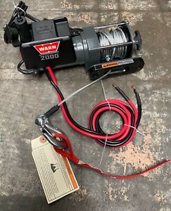 Warn 2000 Dc 12v Electric Winch With Remote Item No 92000