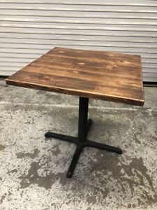 2 Top Dining Table Base Solid Real Wood 1918 Commercial Restaurant Furniture