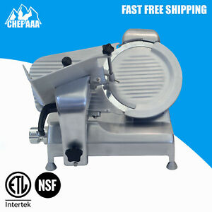Commercial Electric Manual Gravity Feed Meat Slicer 10 Blade Deli Food Cutter