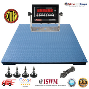 Optima Scales Op 916 4x4 10 Ntep Heavy Duty Pallet Scale 4 x4 10 000 Lb