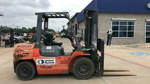 2011 Toyota Forklift 7fgu35 Gas Propane 2851hrs Well Maintained 7000lbs