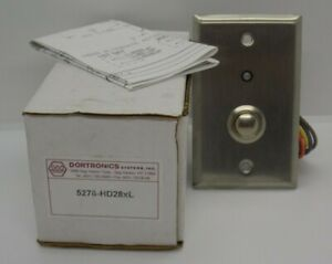 Dortronics Push Button Switch 3 4 Round Stainless 5276 hd28xl New Lot Of 7