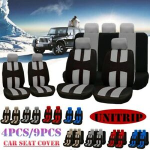 4pcs 9pcs Universal Car Seat Covers Chair Protector Front Back Pads Four Seasons