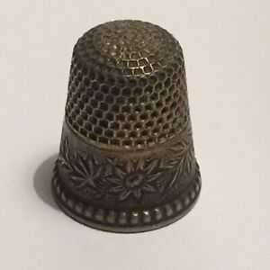 Antique Ketchum And Mcdougall Sterling Silver Thimble