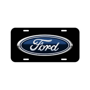 Ford Vehicle License Plastic Plate Front Auto Black Mustang Explorer F150 F250