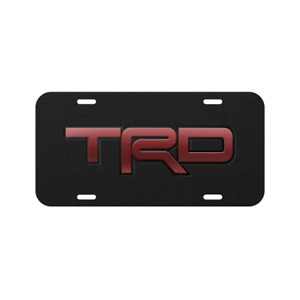Trd Vehicle License Plate Front Auto Tag Car Truck Tundra Tacoma 4runner