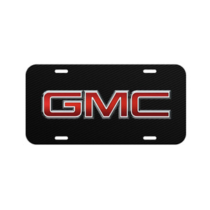 Gmc Vehicle License Plate Front Car Auto Tag Usa Made Black Carbon Truck Sierra