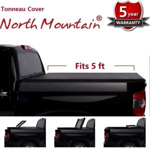 Blk Soft Vinyl Roll Up Tonneau Cover Assembly Fit 15 19 Colorado Canyon 5 Bed