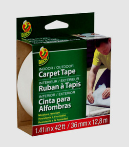 Duck White Carpet Tape In outdoor Moisture Resistant 1 41 W X 42 Ft L 286373